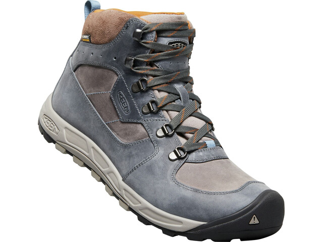 Keen Westward Leather WP Mid Kengät Miehet, dark slate/grey flannel